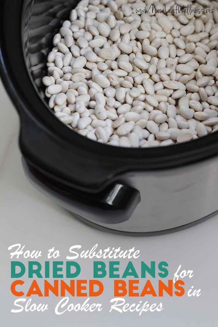 How to Substitute Dried Beans for Canned Beans in Slow Cooker Recipes
