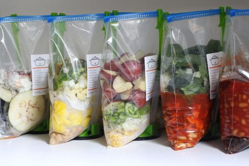 7 Meat Free Slow Cooker Freezer Meals