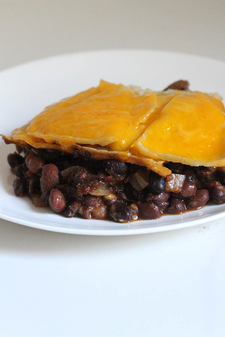 Black Bean Enchilada Stack
