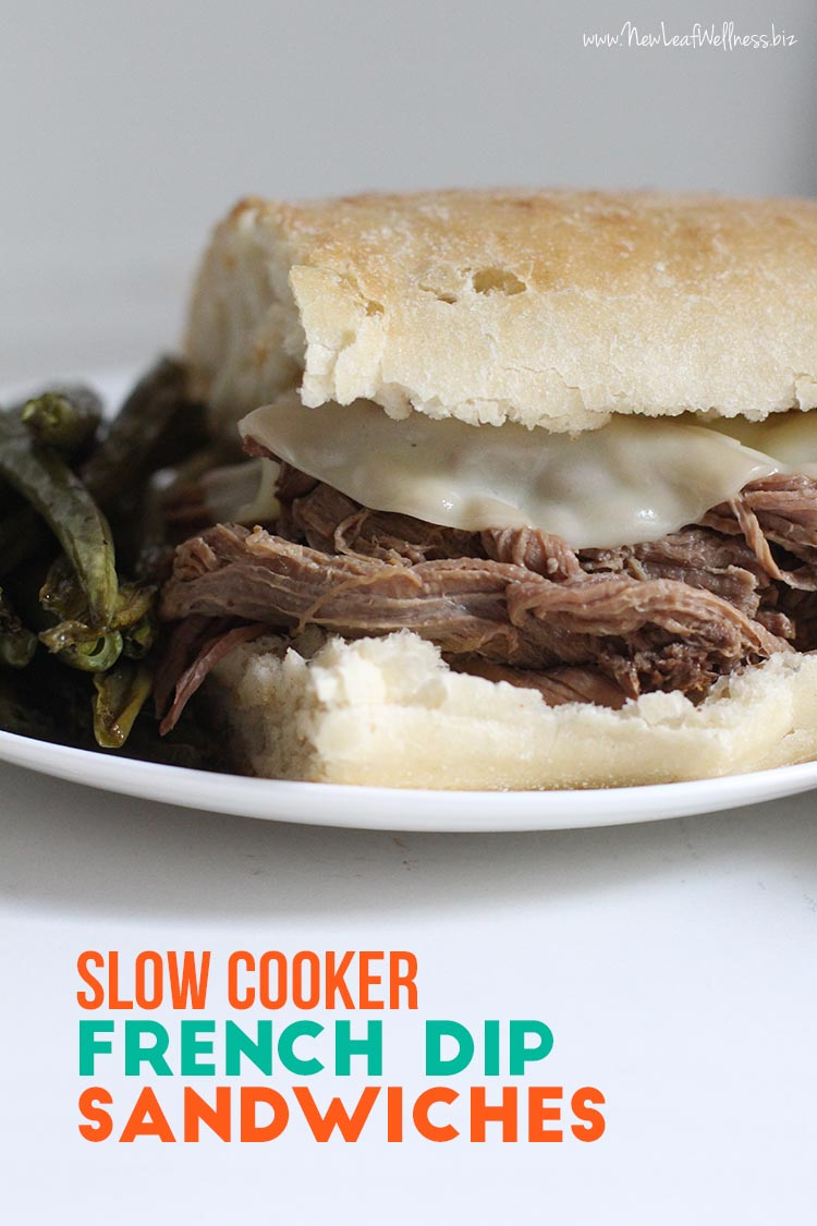 Delicious Slow Cooker French Dip Sandwiches
