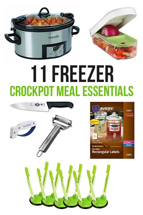 11 Freezer Crockpot Meal Essentials