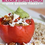 Crockpot Mexican Stuffed Peppers with Ground Turkey