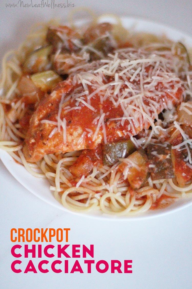 Easy Crock Pot Chicken Cacciatore