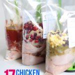 17 Chicken Crockpot Freezer Meals