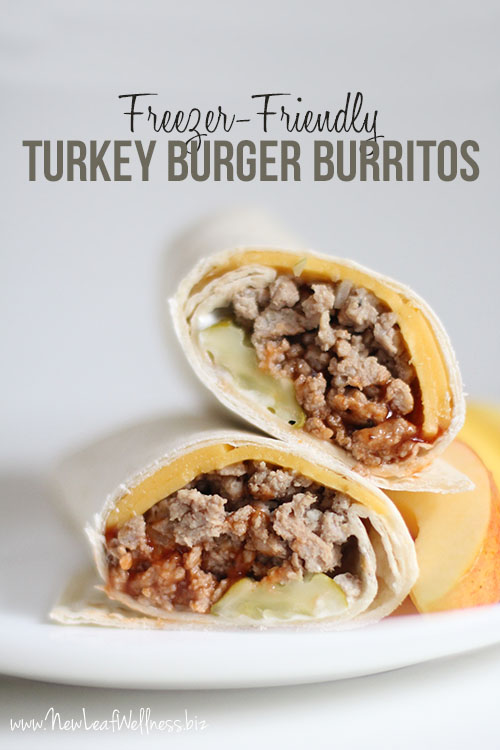 Freezer-Friendly Turkey Burger Burritos