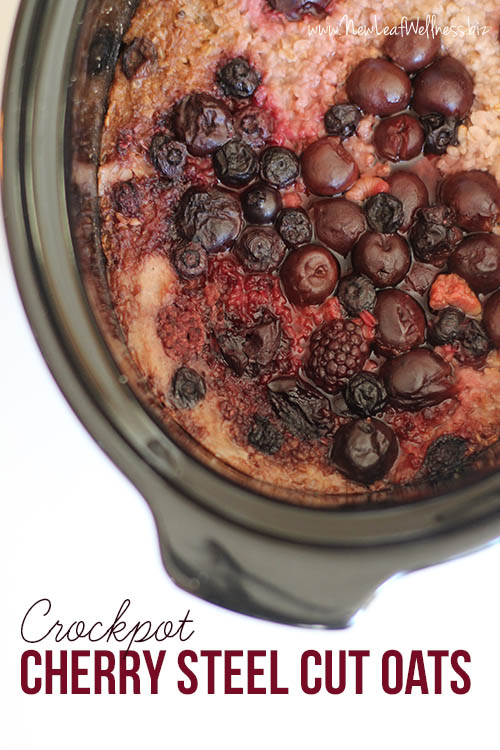 Cherry Steel Cut Oats Crock Pot Recipe
