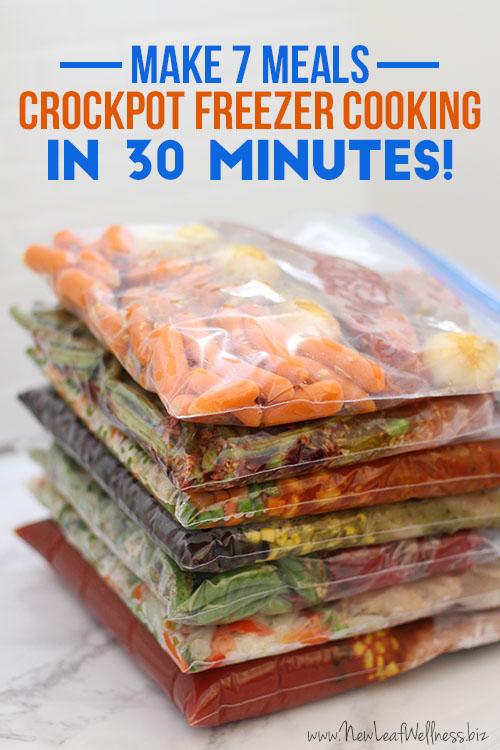 Crockpot Freezer Cooking - Make 7 Meals in 30 Minutes