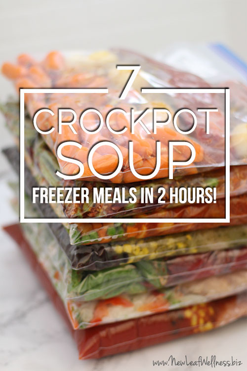 7 Crockpot Soup Freezer Meals In Two Hours