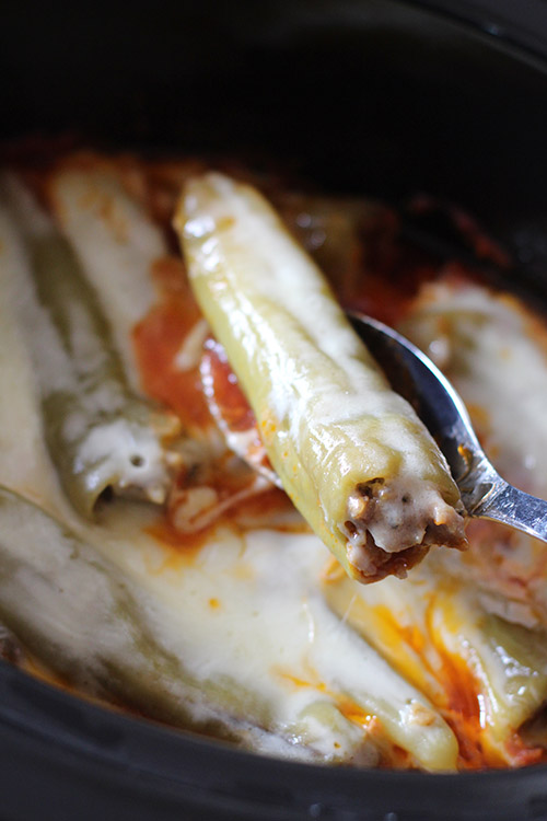 Crockpot Sausage-Stuffed Banana Peppers Recipe