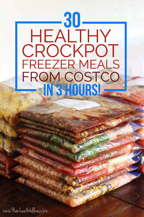 30 Healthy Crockpot Freezer Meals From Costco in 3 Hours