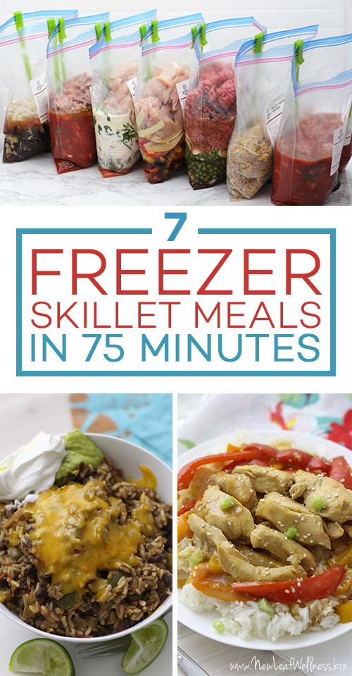 7 Freezer-to-Skillet Meals in 75 Minutes