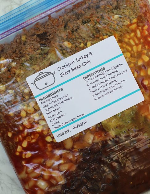 Editable Freezer Meal Labels