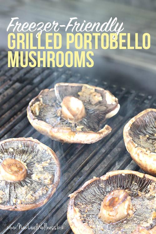 Freezer-Freiendly Grilled Portobello Mushrooms