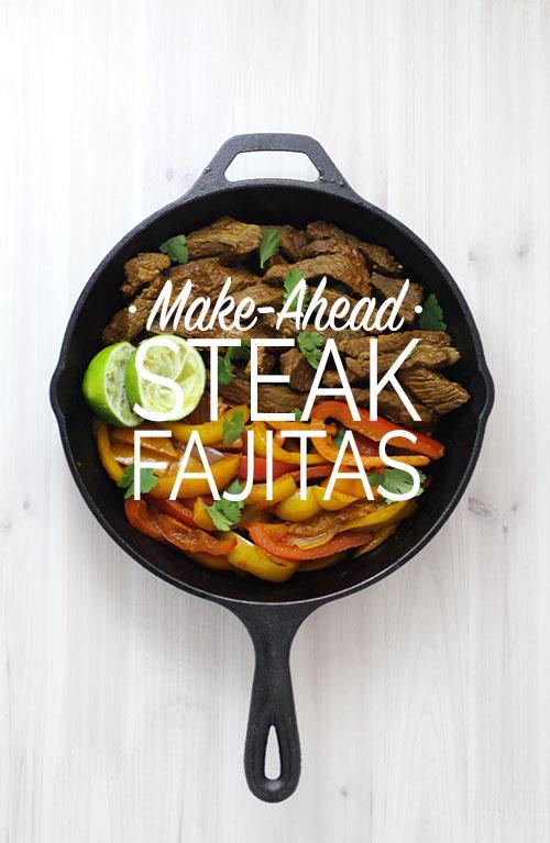 Make-Ahead Steak Fajitas