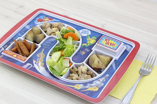 dinner winner tray