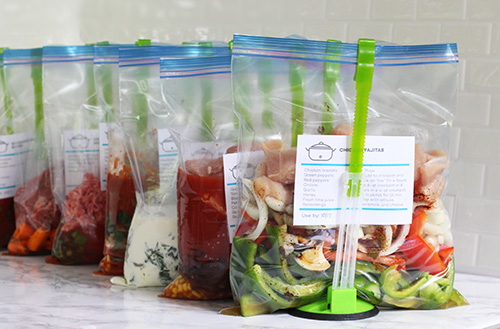 7 Healthy Crockpot Freezer Meals in 60 Minutes