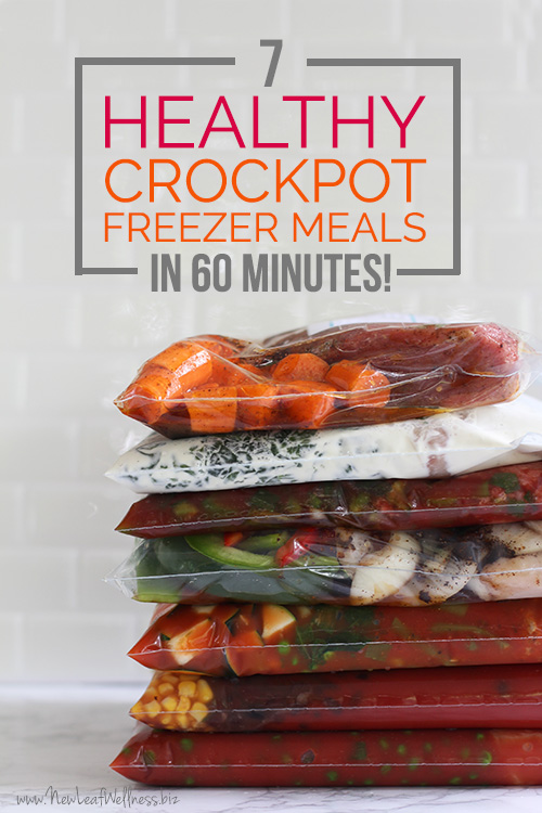 7 Healthy Crockpot Freezer Meals in 60 Minutes