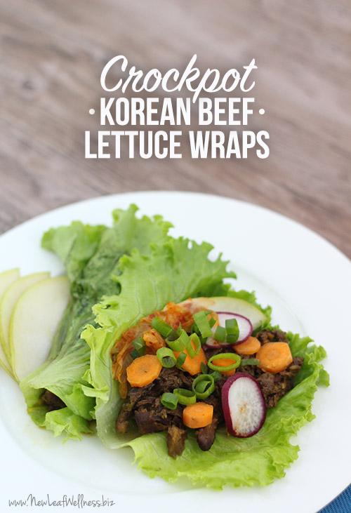 Crockpot Korean Beef Lettuce Wraps