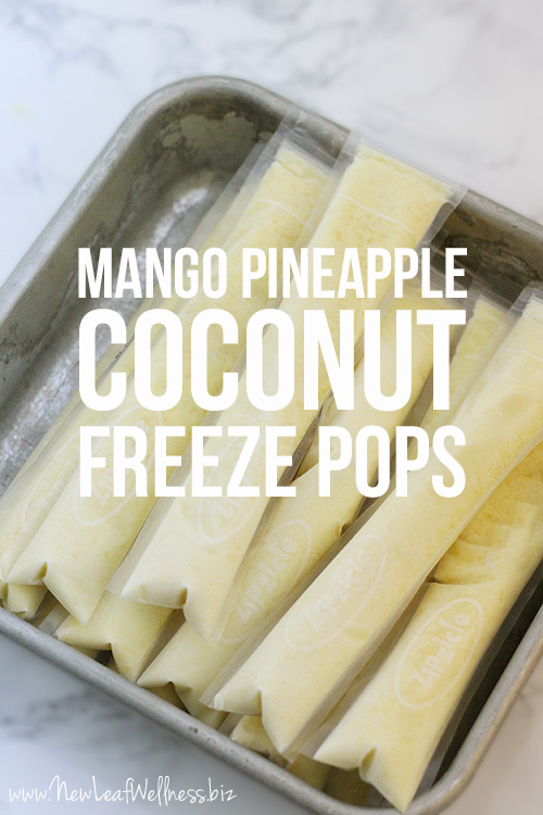 Homemade Mango Pineapple Coconut Freeze Pops