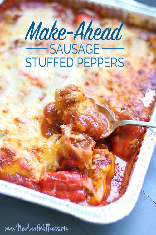 Make-Ahead Sausage Stuffed Peppers