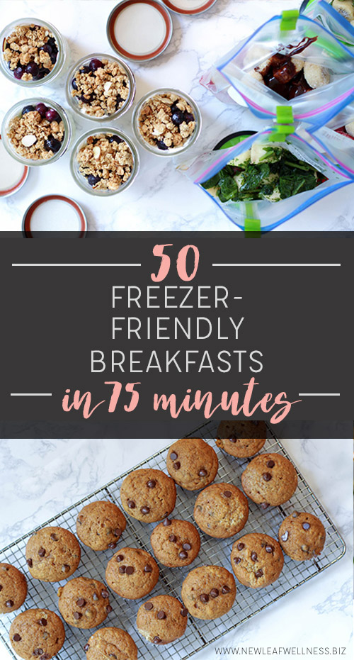 50 Freezer-Friendly Breakfasts in 75 Minutes