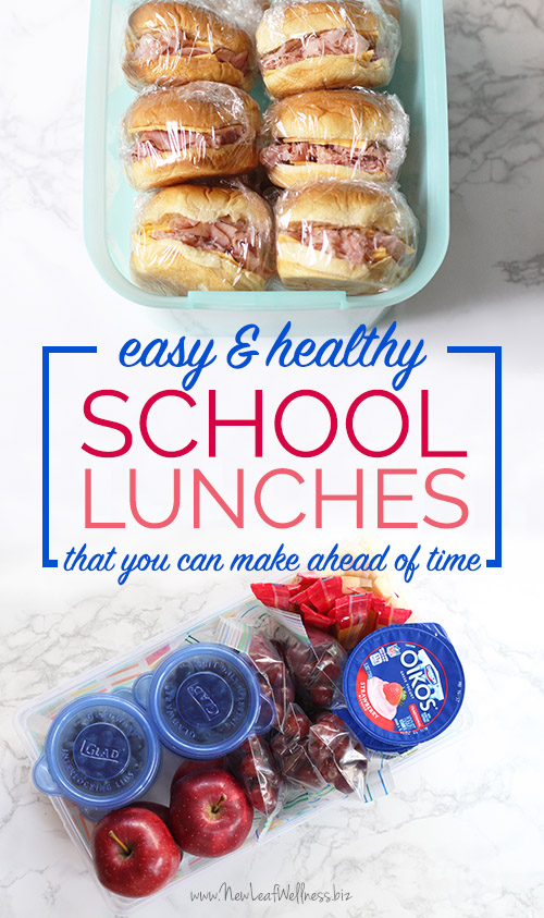 Easy and Healthy School Lunches That You Can Make Ahead of Time