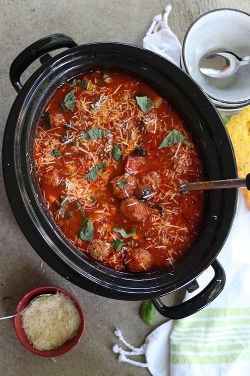 Slow Cooker Meatball Vegetable Soup