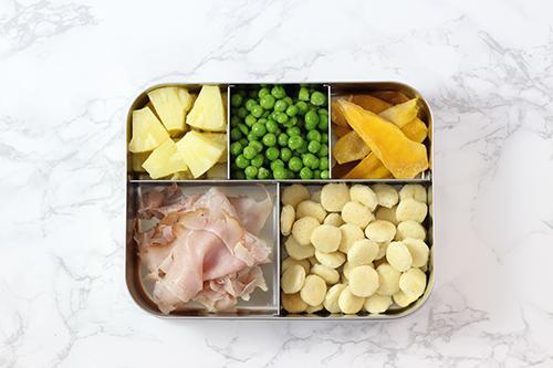ham and pineapple bento