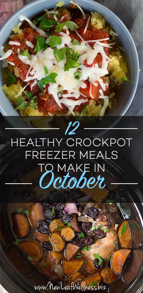 12 Healthy Crockpot Freezer Meals to Make In October