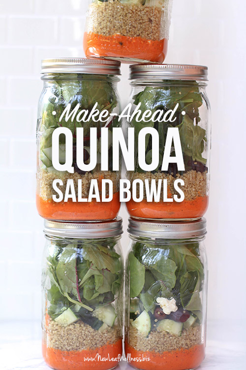 5 Make-Ahead Quinoa Salad Bowls in 20 Minutes