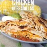 Crockpot Shredded Chicken Quesadillas