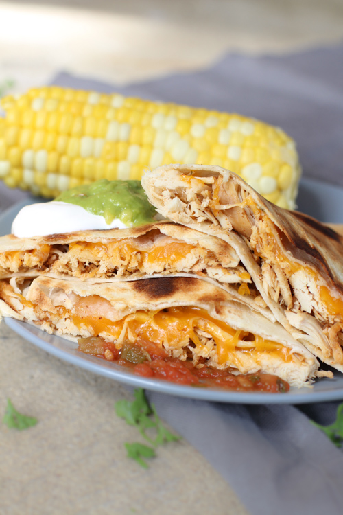Crockpot Shredded Chicken Quesadillas