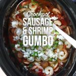 Crockpot Sausage and Shrimp Gumbo