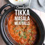 Crockpot Tikka Masala Meatballs