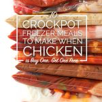 10 Crockpot Freezer Meals to Make When Chicken Breasts are Buy One Get One Free