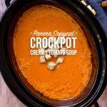 Crockpot Vegetarian Creamy Tomato Soup (Panera Copycat)