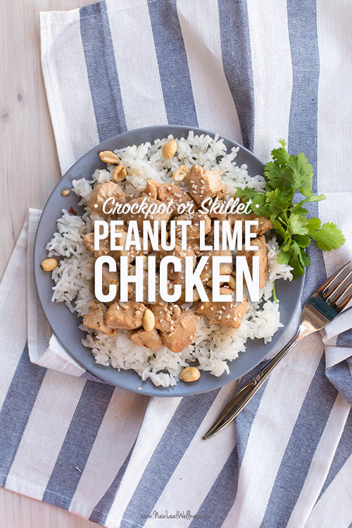 Crockpot or Skillet Peanut Lime Chicken