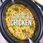 Crockpot Shredded Buffalo Chicken