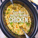 Crockpot Shredded Buffalo Chicken
