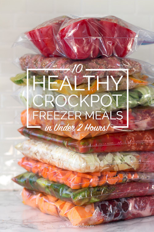 10 Clean Eating Crockpot Freezer Meals in Less Than 2 Hours