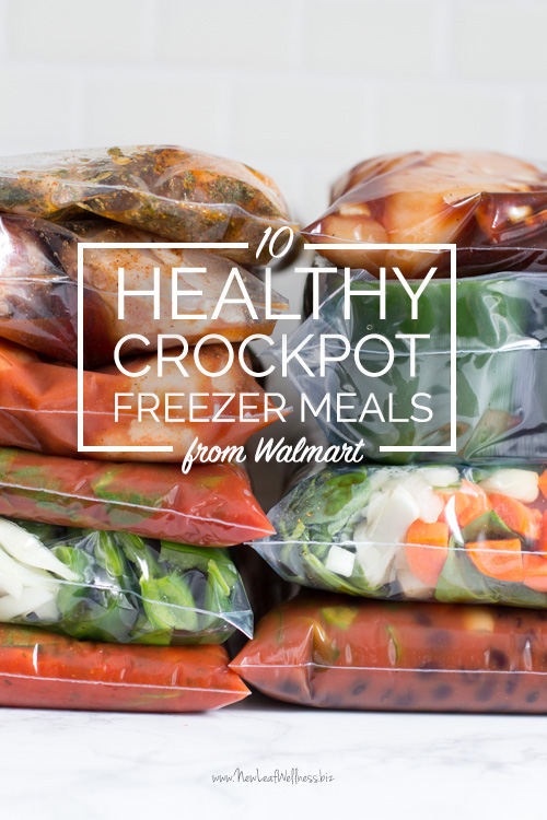 10 Healthy Crockpot Freezer Meals from Walmart in 90 Minutes