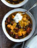 black bean sweet potato chili