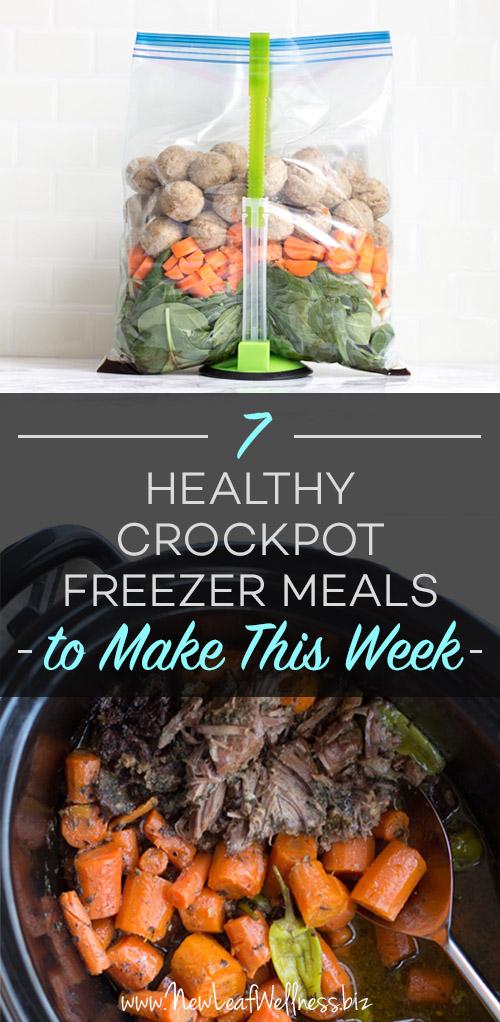 7 Crockpot Freezer Meals to Make this Week