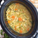 Crockpot Low-Fat All-Natural Chicken Noodle Soup (Panera Copycat)