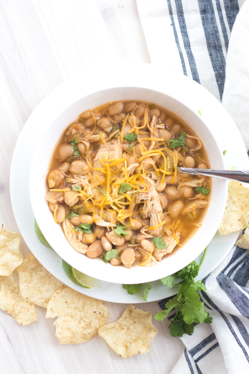 Crockpot 4-Bean White Chicken Chili