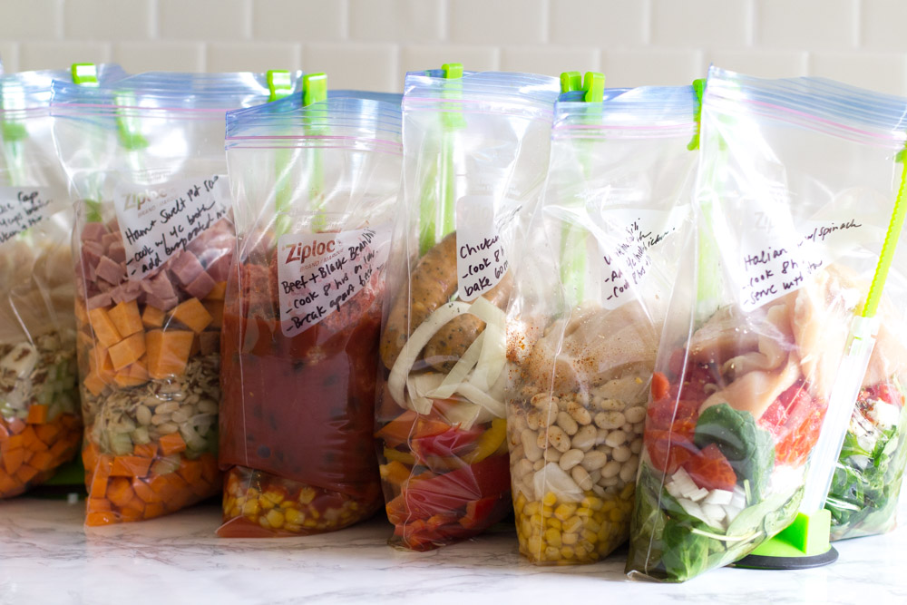 Gluten-Free Crockpot Freezer Meals from ALDI (9 meals in 90 min!)