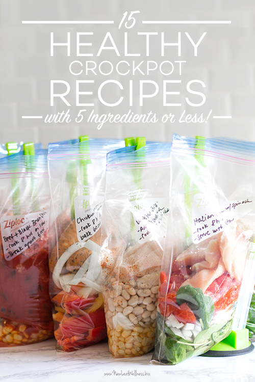 15 Healthy Crockpot Recipes with Five Ingredients or Less