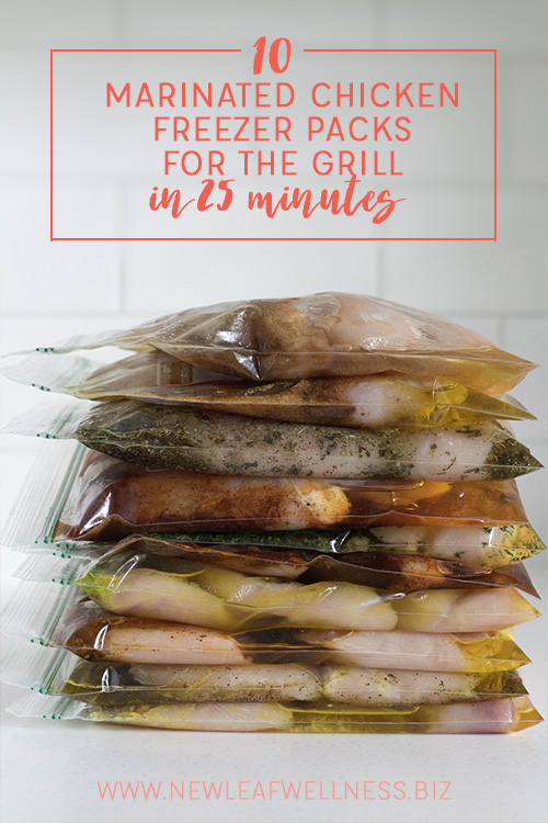 10 Marinated Chicken Freezer Packs for the Grill in 25 Minutes