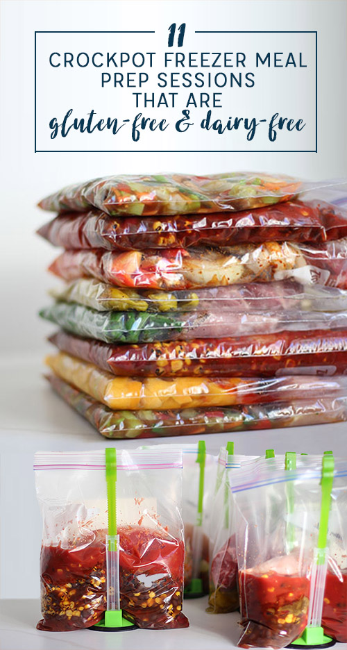 11 Gluten Free Dairy Free Crockpot Freezer Meal Prep Sessions