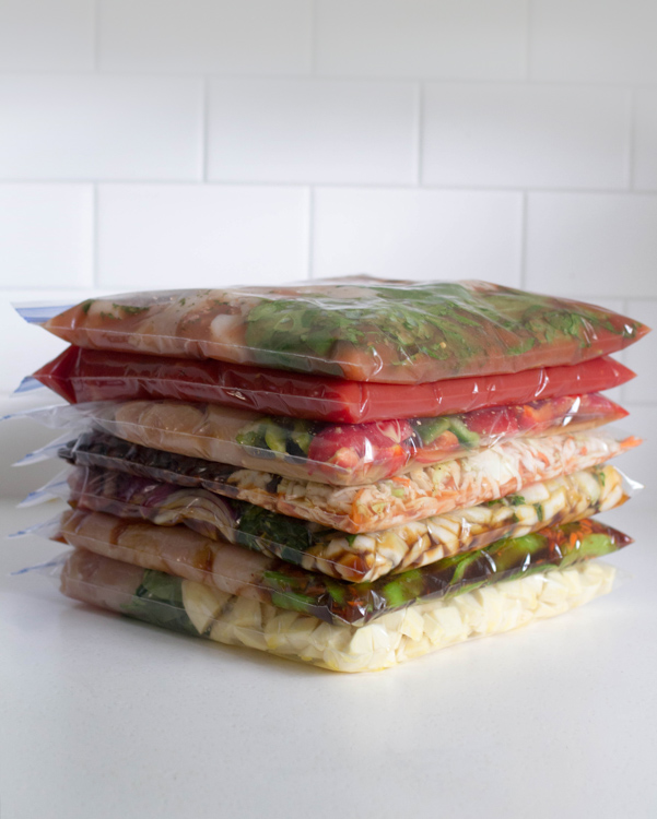 7 Healthy Stovetop Freezer Meals in 70 Minutes